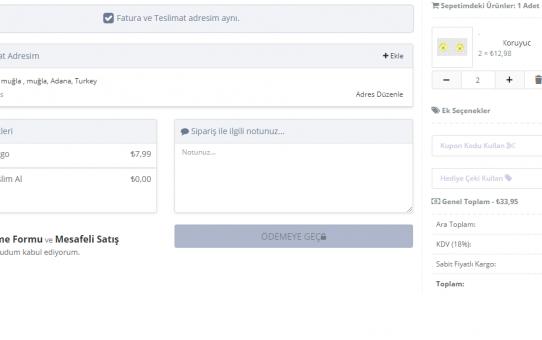 Opencart 2.3.0.2 Harika Ajax Ödeme Modülü Türkçe Full Ücretsiz