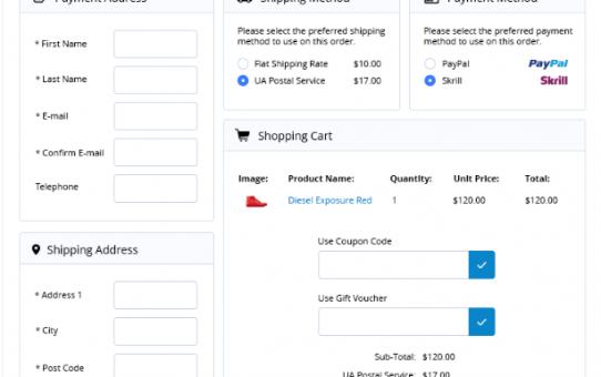 Opencart Ajax Tek Sayfa Ödeme Modülüne Otomatik Mesafeli Satış Sözleşmesi Ekleme